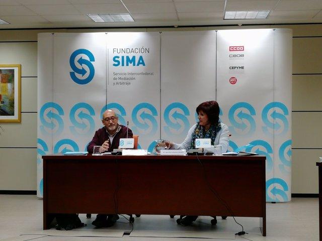Responsables de la Fundación SIMA