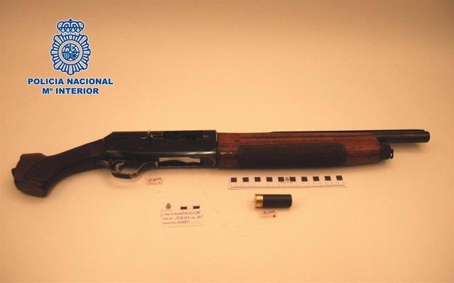 Escopeta intervenida tras utilizarse en una reyerta en Jerez