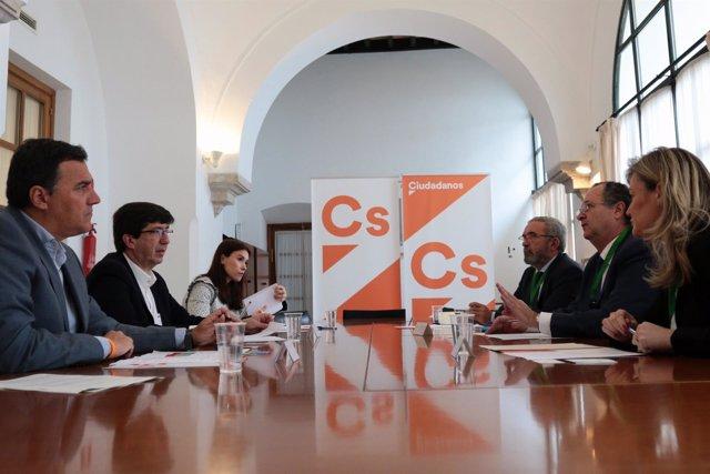 Reunión de Cs con los centros tecnológicos de Andalucía