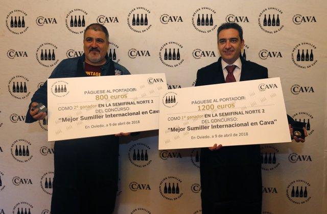 Ganadores de la semifinal de Asturias y Cantabria 'Mejor Sumiller en Cava'