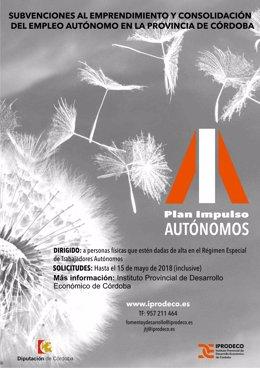 Cartel de las subvención a autónomos