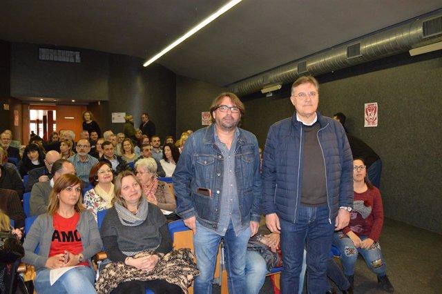 Camil Ros y José Luis Aguilà (UGT)