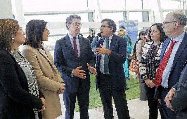 Reunión sobre la PAC con Feijóo, Carlos Cabanas y Milagros Marcos