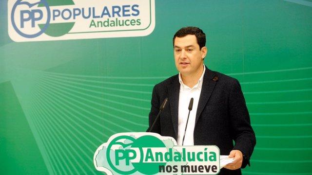 Juanma Moreno, este miércoles