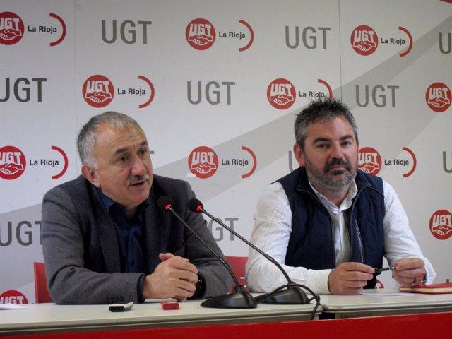 Pepe Alvarez Con Secretario De UGT Rioja Jesús Izquierdo