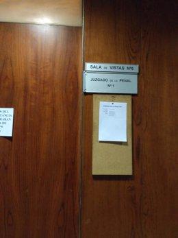 Sala de vistas donde se ha celebrado el juicio.
