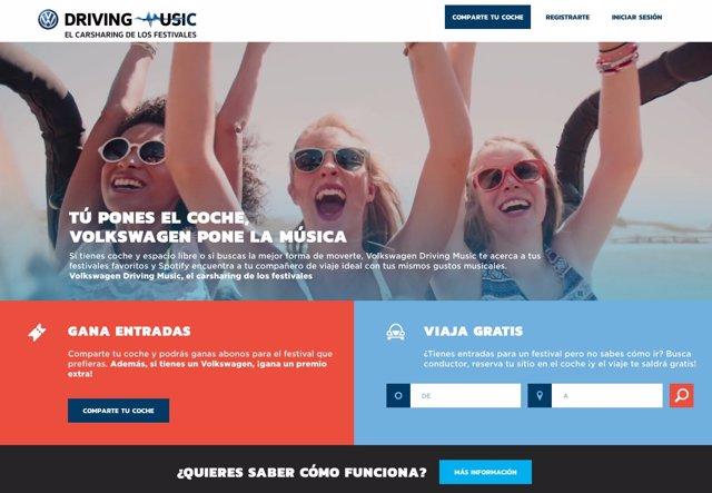 Driving Music, el BlaBlaCar de Volkswagen para ir a los festivales