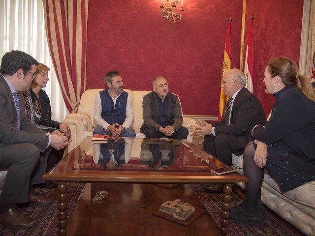 Recepción Ceniceros con secretario general UGT