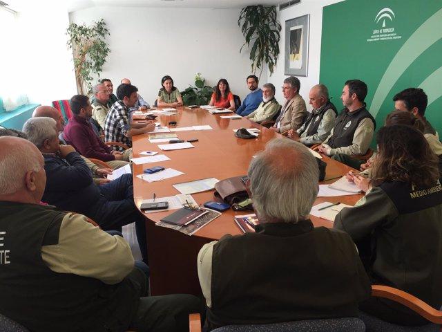 Reunión sobre la campaña de conservación del aguilucho cenizo.