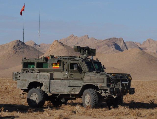 Vehículo blindado RG31 en Afganistán