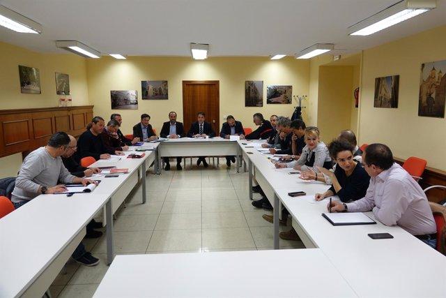 Reunión de los bomberos con el Ayuntamiento de Málaga