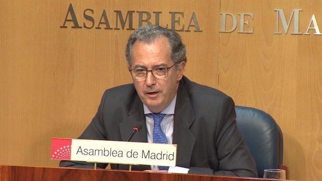 Enrique Ossorio declara en la Asamblea de Madrid