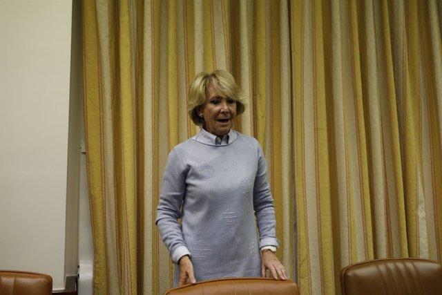 Aguirre comparece en la comisión de investigación sobre la financiación del PP