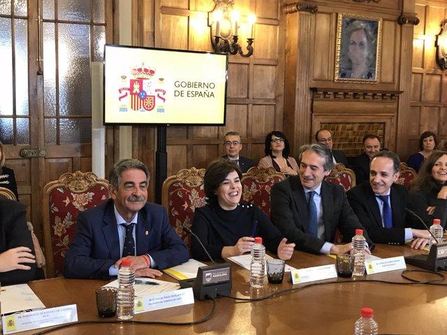 Clausura de la reunión de delegados y subdelegados del Gobierno en Santander