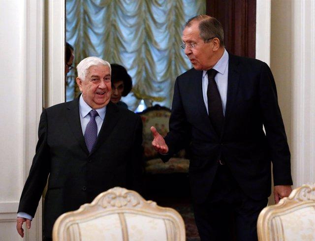 Sergei Lavrov y  Al Muallem