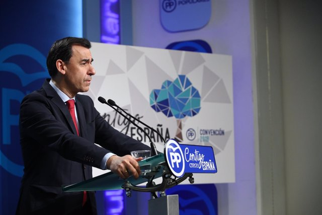 Rueda de prensa del coordinador general del PP, Fernando Martínez Maillo