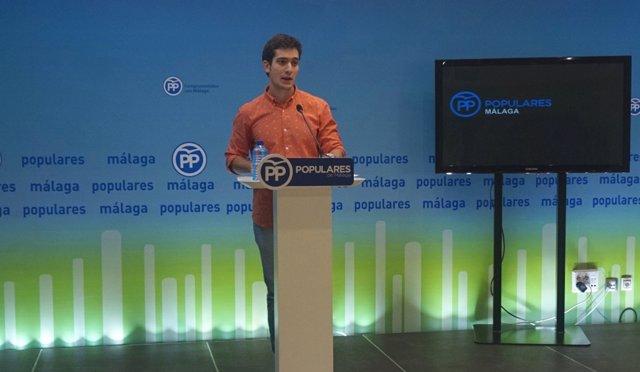 Luis Paniagua, presidente de NNGG Andalucía