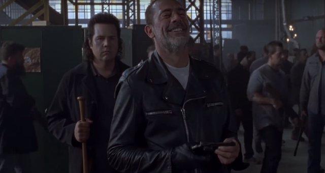 Josh McDermitt y Jeffrey Dean Morgan en The Walking Dead