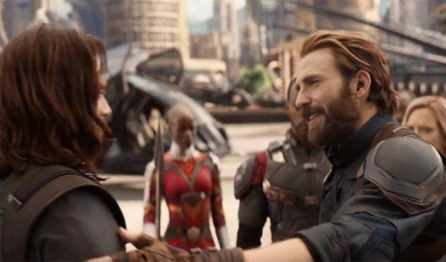 Capitán América y Bucky en Infinity War