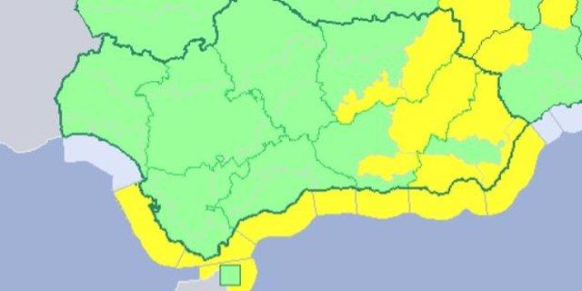 Avisos por nevadas, vientos y oleaje previstos en Andalucía este 11 de abril