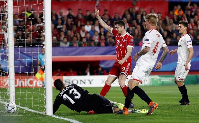 El Bayern vence al Sevilla en el Sánchez-Pizjuán