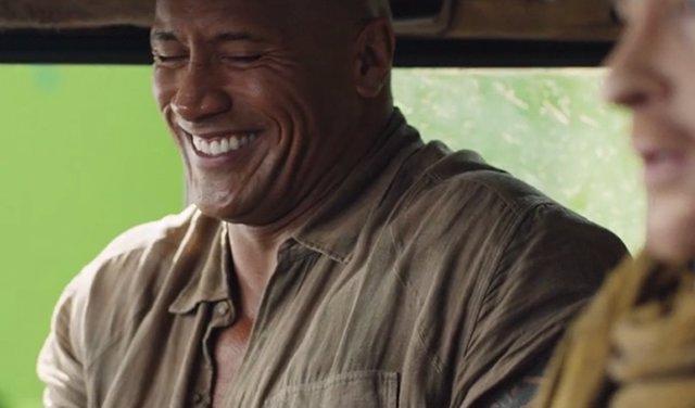 Dwayne Johnson en el rodaje de Jumanji