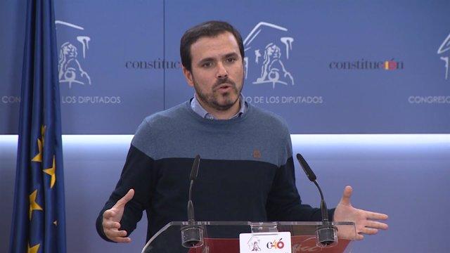 Alberto Garzón Declara En El Congreso De Los Diputados
