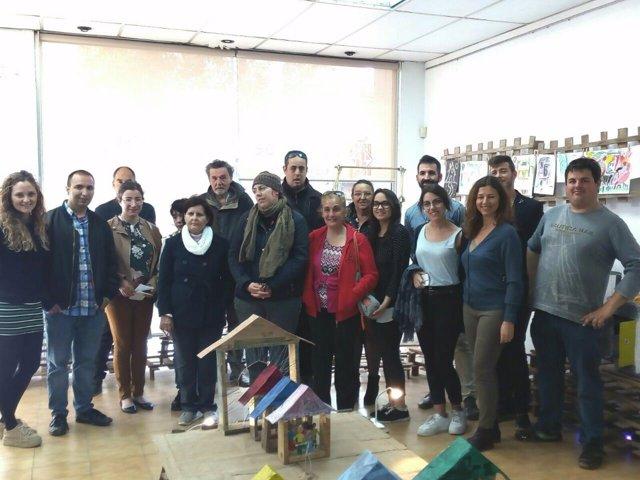 Participantes de la exposición 'La Ciudad Invisible'