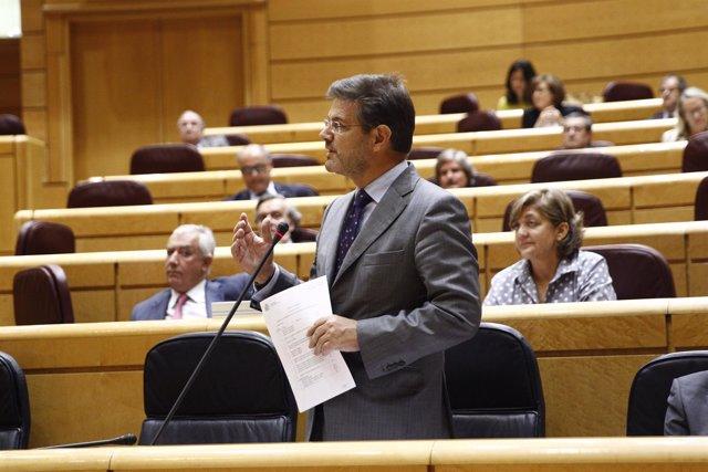 El ministro Rafael Catalá en el Senado