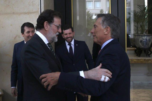 Mauricio Macri recibe a Mariano Rajoy en Argentina