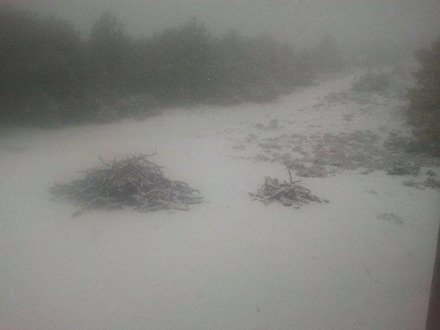 Imagen de la nevada primaveral que ha compartido la empresa pública