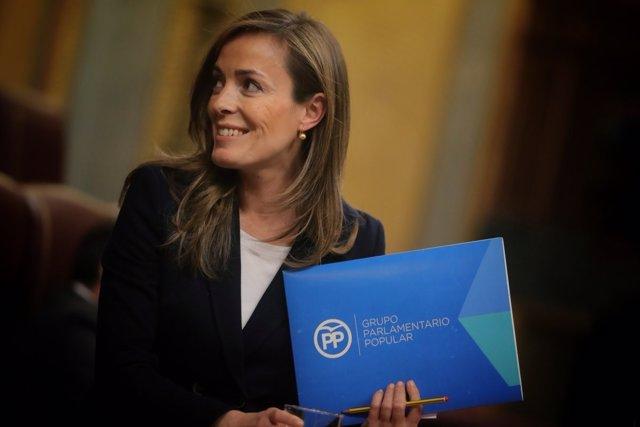 La diputada del PP Carmen Navarro en el Congreso