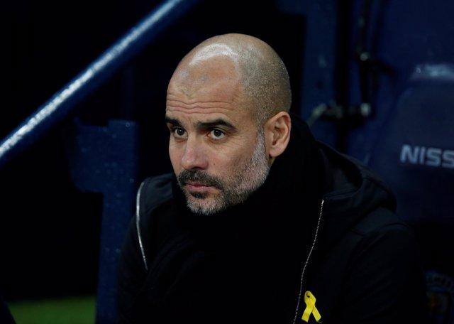 El entrenador del Manchester City Pep Guardiola
