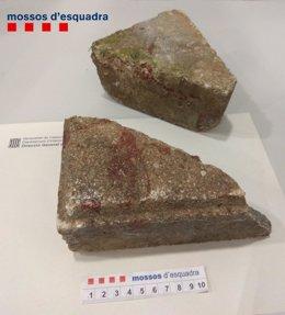 Piedras usadas en la agresión a una persona en Barcelona