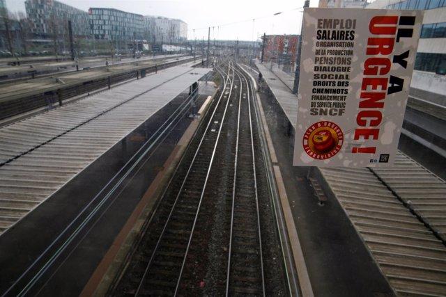 Huelga de ferrocarriles en Francia