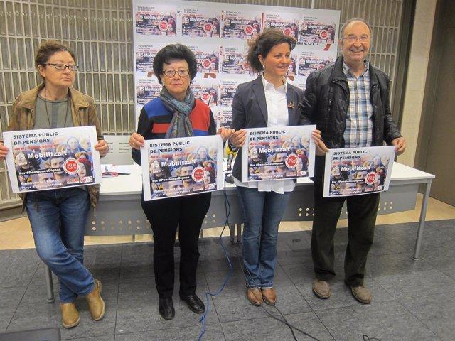 CCOO y UGT presentan la concentración por las pensiones del 15 de abril