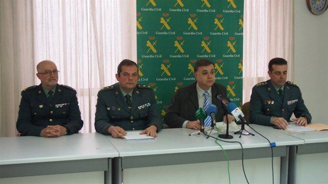 Rueda de prensa en la Comandancia de la Guardia Civil en Granada
