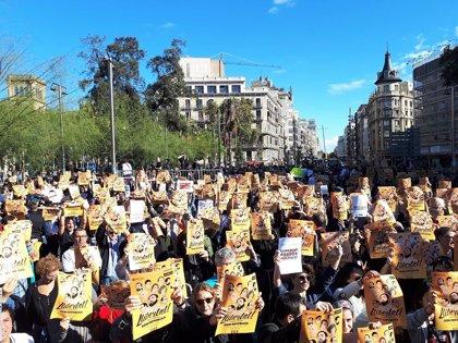 La manifestación del domingo por los presos soberanistas recorrerá el Paral·lel de Barcelona