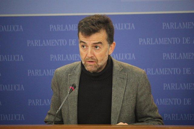 Antonio Maíllo, este miércoles, en rueda de prensa