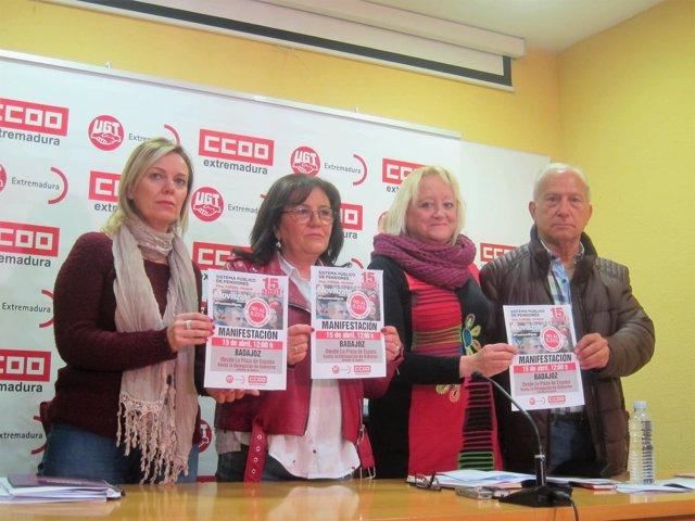 CCOO y UGT convocan una manifestación este domingo en Badajoz por las pensiones