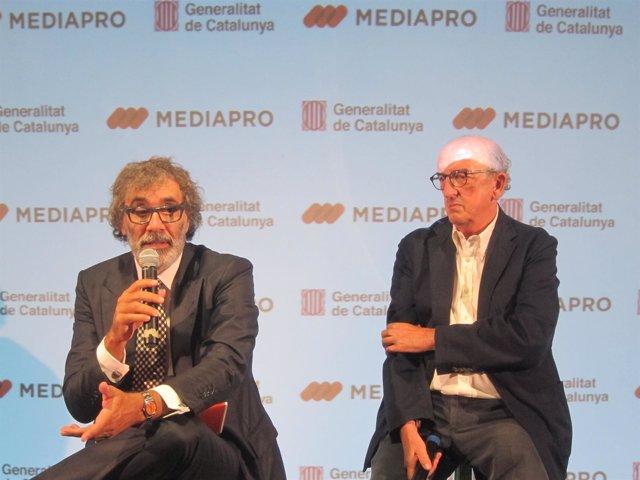 Tatxo Benet y Jaume Roures (Mediapro) (Archivo)