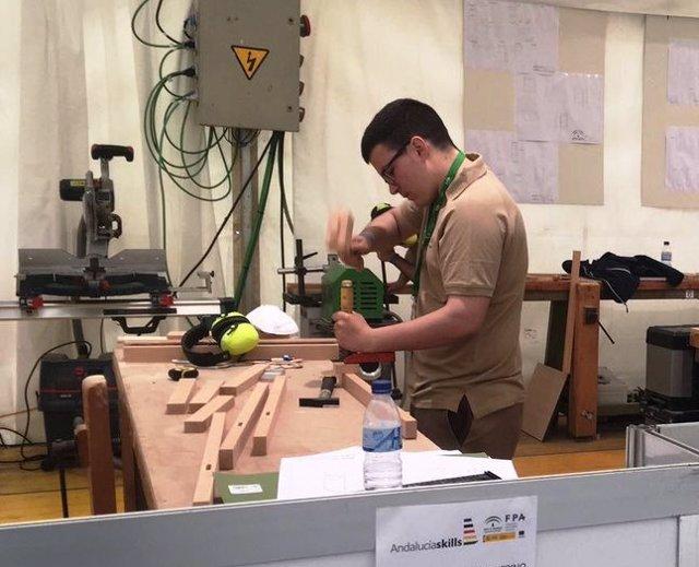 AndaluciaSkills FP formación profesional estudiantes operario alumno