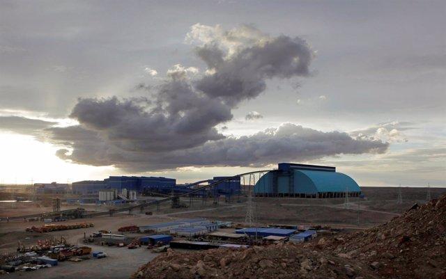 Foto de archivo de la mina Oyu Tolgoi en Mongolia.