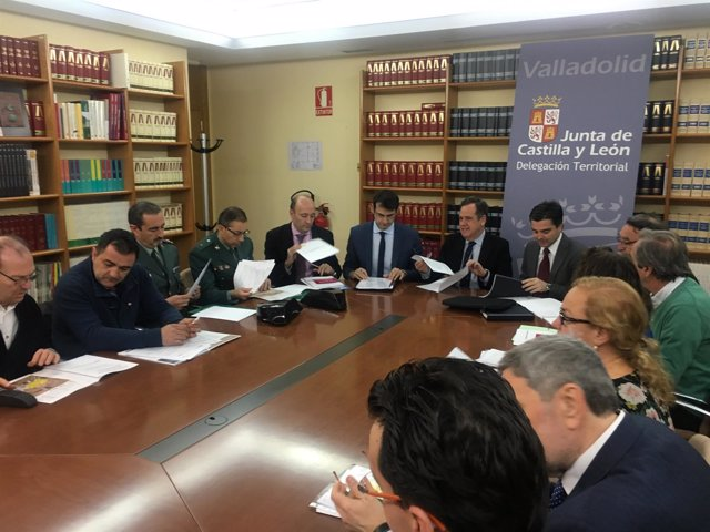 Valladolid.- Un momento de la reunión en la Delegación Territorial de la Junta