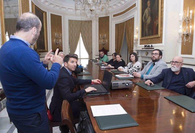 Reunión de portavoz de la Diputación de Cádiz
