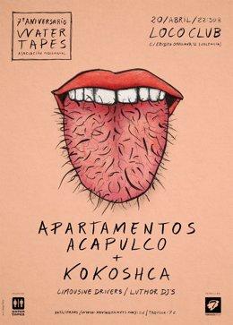Cartel del concierto en Valencia por Kokoshca