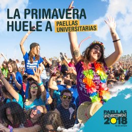 Cartel de las Paellas Universitarias 2018
