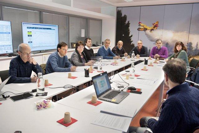 Reunión del Consejo Asesor de Emergencias de Navarra.