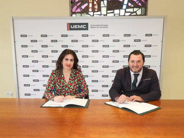 La rectora de la UEMC y el presidente de Cermi CyL firman el convenio 11-04-2018