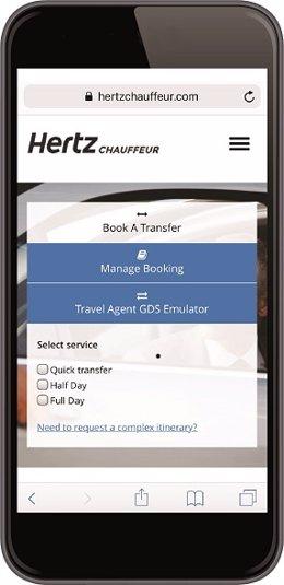 Imagen de la web Hertz Chauffeur